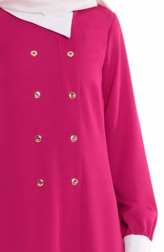 Robe Col Chemise 4187-01 Fushia 4187-01