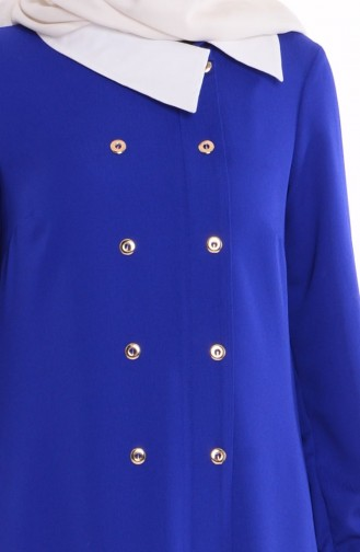 Robe Col Chemise 4187-02 Bleu Roi 4187-02