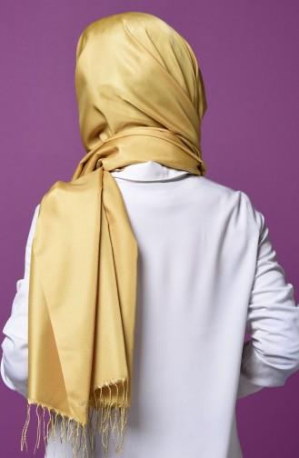 Mustard Sjaal met Drukknoop 1-30
