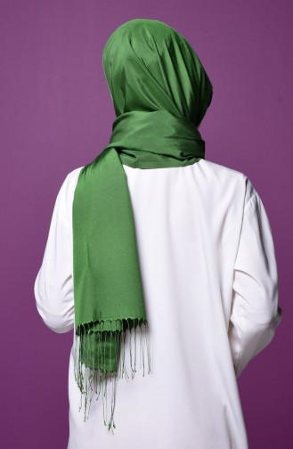 Grass Green Snap Fastener Shawl 1-30