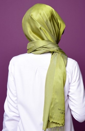 Light Khaki Green Snap Fastener Shawl 1-02