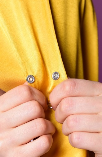 Yellow Snap Fastener Shawl 1-07