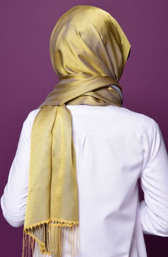 Sefamerve Snap Shawl N1-19 Gray Yellow 1-19