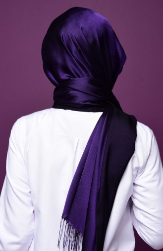 Purple Snap Fastener Shawl 2-34