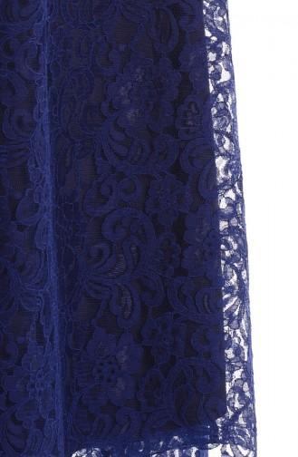 Abaya Lacée 35598-01 Bleu Marine 35598-01