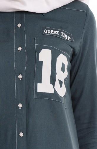 Gömlek Yakalı Tunik 50717-05 Yeşil 50717-05