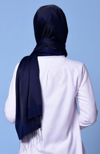 Navy Blue Sjaal met Drukknoop 1-14