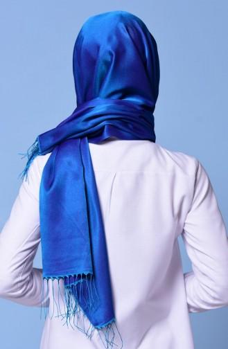 Châle à Bouton-Pression Bleu Foncé 1-46