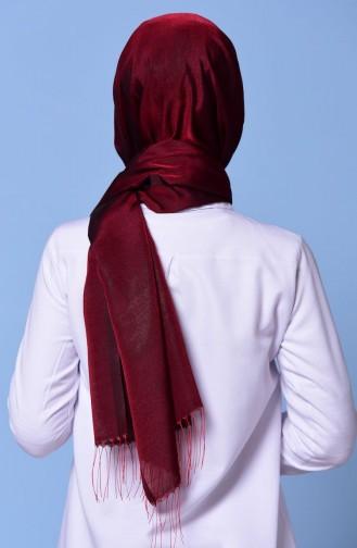 Red Sjaal met Drukknoop 2-41