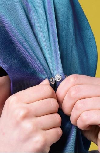 شالات أزرق زيتي 1-13