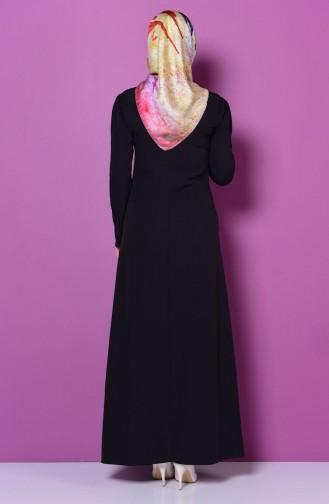 Black İslamitische Jurk 4023-03