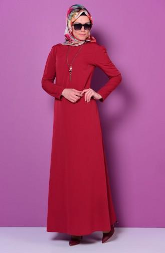 Claret red Dress 4023-06