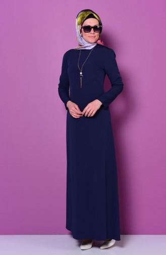 Navy Blue Dress 4023-02