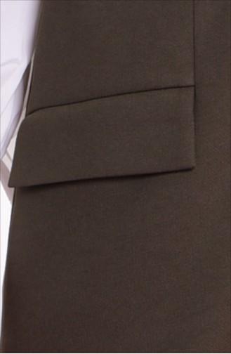 Khaki Gilet 1047-01