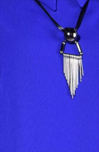 Kreppstoff Kleid mit Halskette 4182-03 Saks 4182-03