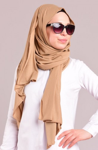 صفامرو ة شال بتصميم قطن 28 لون كستنائي 28