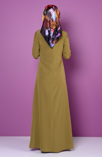 Oil Green Dress 4023-12