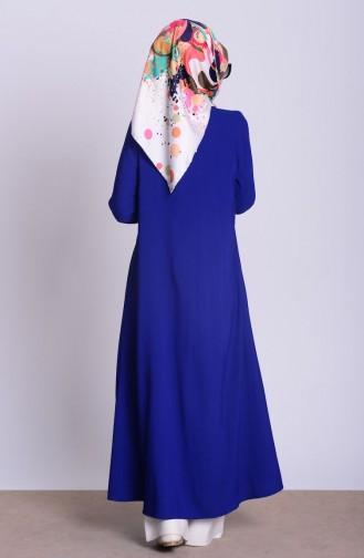 Long Gilet 4028-01 Bleu Roi 4028-01