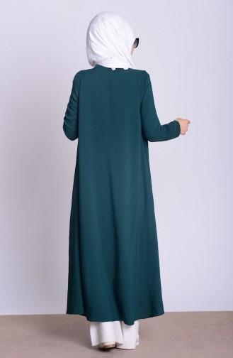 Lange Jacke aus Chiffon 4028-09 Smaragdgrün 4028-09