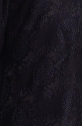 Gizli Düğmeli Ferace 35507-01 Siyah 35507-01