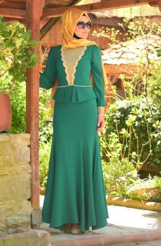 Hijab Abendkleid 3111-06 Grün 3111-06