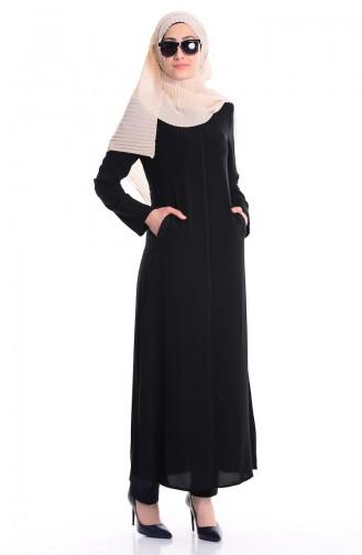 Black Abaya 0452-01