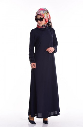 SUKRAN Chiffon Dress 4148A-01 Navy Blue 4148A-01