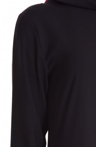 Şifon Elbise 4148A-02 Siyah