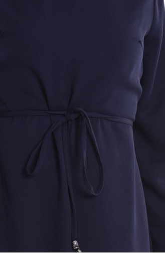 Robe Crêpe 4193-02 Bleu Marine 4193-02