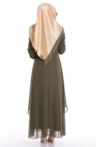 Khaki İslamitische Jurk 52221-15