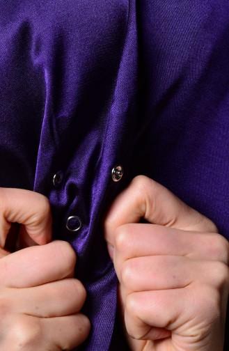 Purple Snap Fastener Shawl 1-03