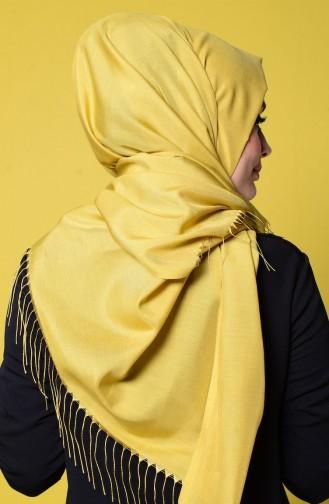 Yellowish Green Sjaal met Drukknoop 1-14