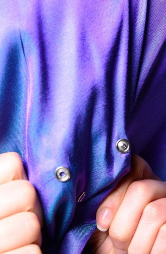 Purple Snap Fastener Shawl 1-21