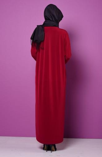 Claret red Abaya 1780-02