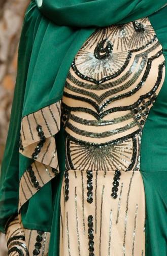Abendkleid mit Pailetten 0048-03 Grün 0048-03