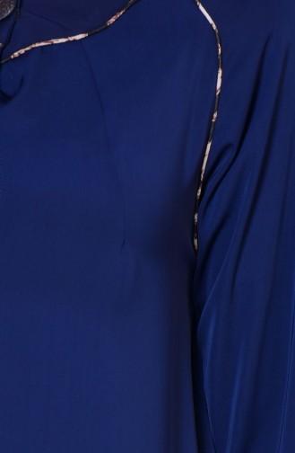 Leopar Biyeli Ferace 7252D-01 Lacivert 7252D-01