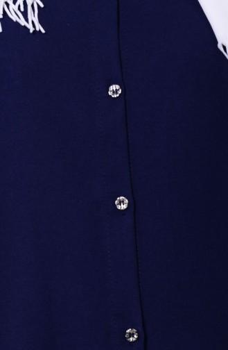 Düğmeli Tunik 2101-03 Koyu Lacivert 2101-03