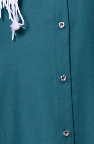 Düğmeli Tunik 2101-08 Yeşil 2101-08
