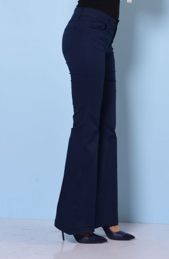 MIHRISAH Spanish Leg Trousers 2328-03 Navy Blue 2328-03
