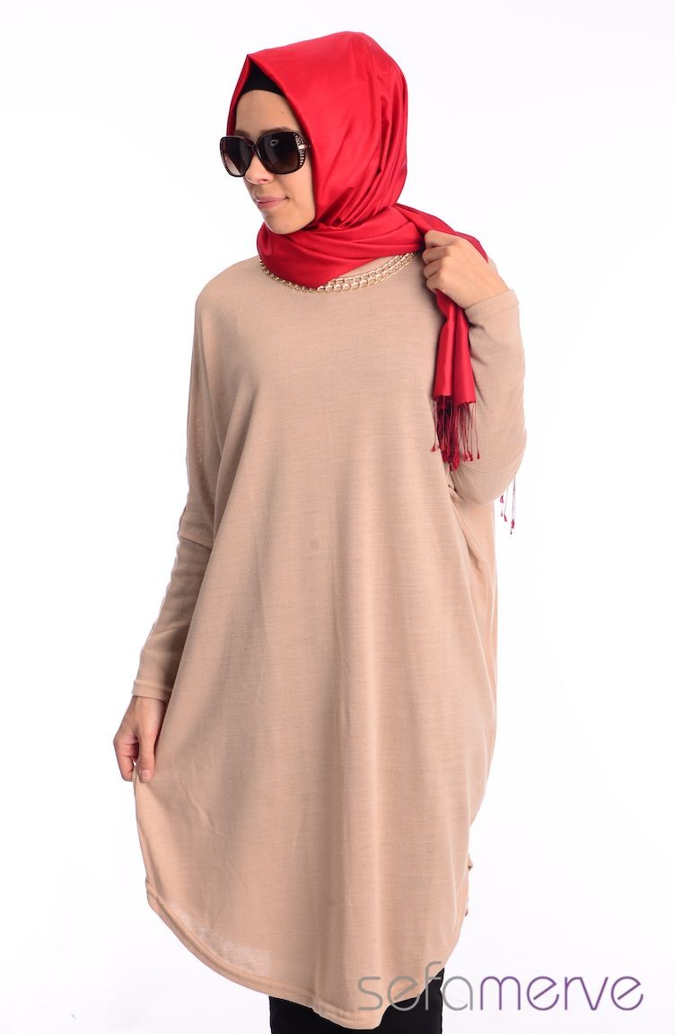 Beige Knitwear 1729-02