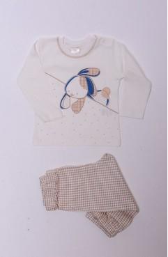 Sefamerve, Bebe Pijama Takımı 1153-01 Ekru-Kahverengi