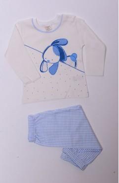 Sefamerve, Bebe Pijama Takımı 1153-02 Ekru-Mavi