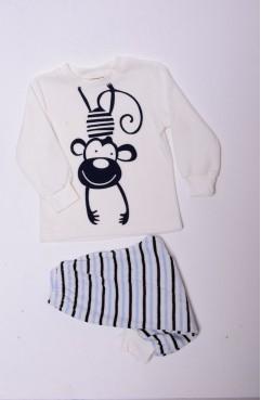 مدل جدید سیمونی دخترانه و پسرانهSefamerve, Kadife Pijama Takımı 1165 Ekru