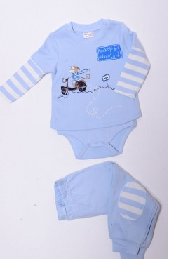 Sefamerve, Body Tshirt Takım 5544 Mavi