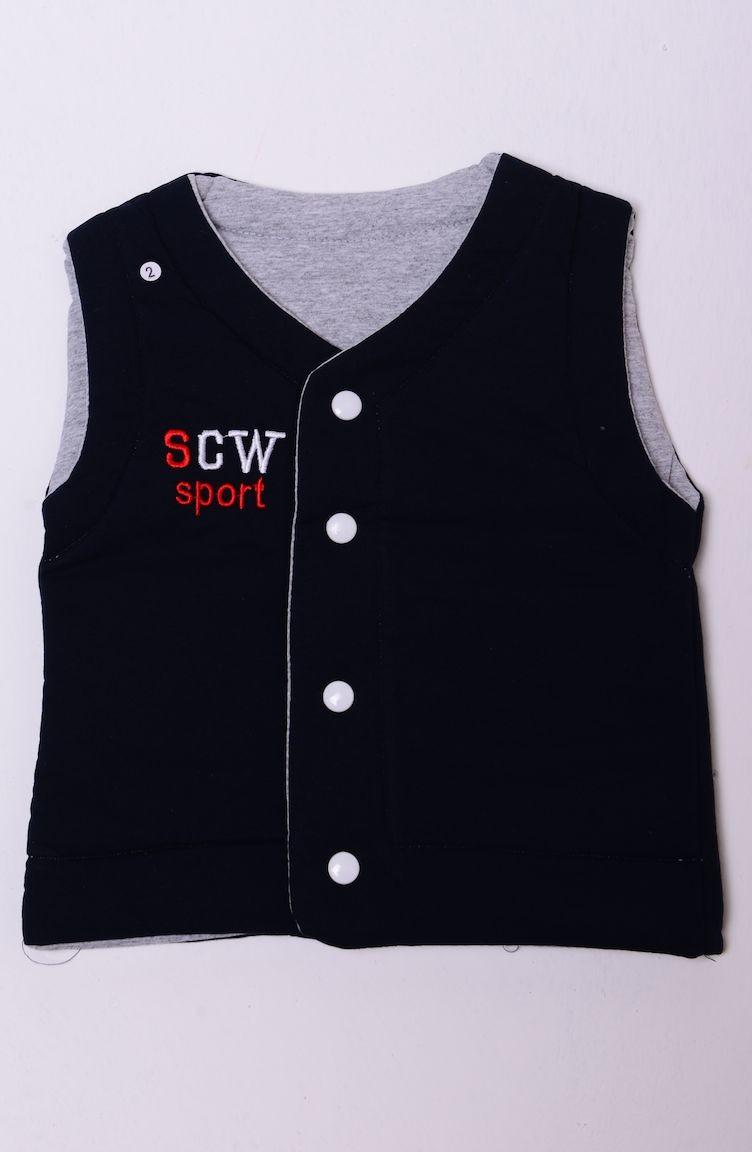 05dedb669 Navy Blue Baby Vest 601-04
