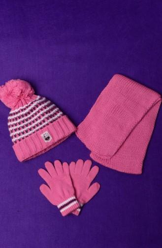 Beige-Rose Hat and bandana models 51106-02