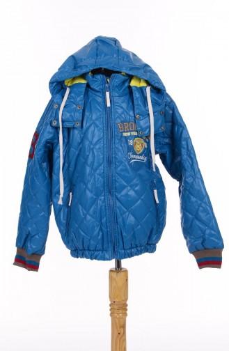 Manteau Pour Enfant Bleu Pétrol B51E12017-02 51E12017 - 02