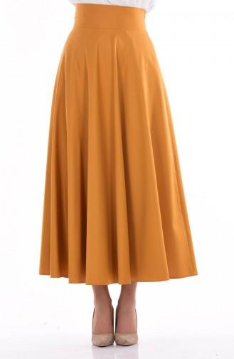 تنورة أصفر خردل 2146-04