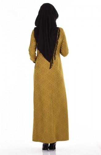 Hijab Kleid 7256-11 Öl Grün 7256-11