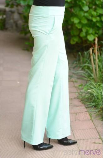 Pantolon 1006-10 Mint Yeşil Sefamerve